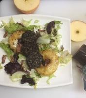 Ensalada de morcilla y manzana